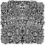 The Crafter's Workshop - 12 x 12 Doodling Templates - Flower Tangle