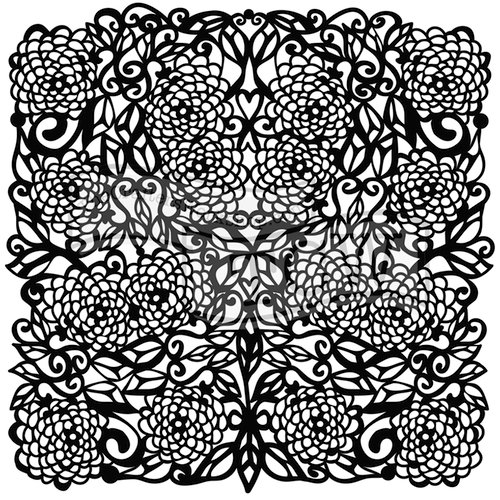 The Crafters Workshop - 6 x 6 Doodling Templates - Flower Tangle
