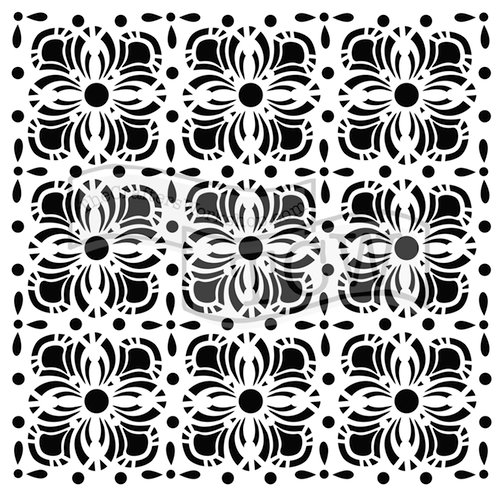 The Crafters Workshop - 6 x 6 Doodling Templates - Flower Tiles