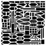 The Crafters Workshop - 6 x 6 Doodling Templates - Bauhaus