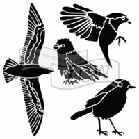 The Crafters Workshop - 6 x 6 Doodling Templates - Bird Gathering