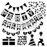 The Crafters Workshop - 6 x 6 Doodling Templates - Party Banners