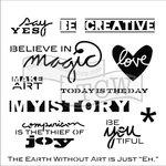 The Crafter's Workshop - 12 x 12 Doodling Templates - Julie's Words