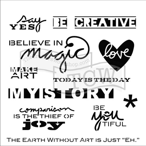 The Crafters Workshop - 6 x 6 Doodling Templates - Julie's Words