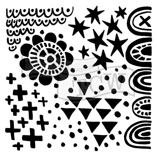 The Crafter's Workshop - 12 x 12 Doodling Templates - Positivity