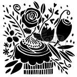 The Crafter's Workshop - 12 x 12 Doodling Templates - Celebration Bouquet