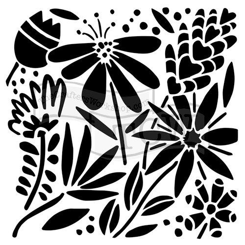 The Crafters Workshop - 6 x 6 Doodling Templates - Summer Burst