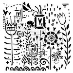 The Crafter's Workshop - 12 x 12 Doodling Templates - Joyful Flowers