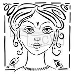 The Crafters Workshop - 6 x 6 Doodling Templates - Angelique
