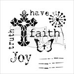 The Crafters Workshop - 6 x 6 Doodling Templates - Have Faith