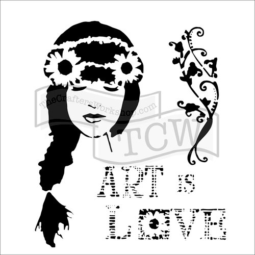 The Crafters Workshop - 6 x 6 Doodling Templates - Art is Love