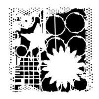 The Crafter's Workshop - 6 x 6 Stencils - Star and Flower