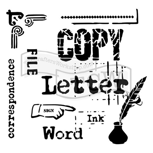 The Crafters Workshop - 6 x 6 Doodling Templates - Correspondence