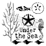 The Crafters Workshop - 6 x 6 Doodling Templates - Under the Sea