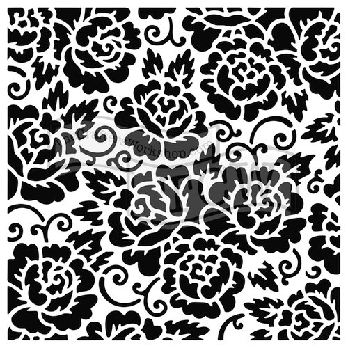 The Crafters Workshop - 6 x 6 Doodling Templates - Rose Garden