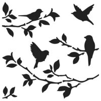 The Crafter's Workshop - 6 x 6 Stencils - Birds on Branches