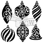 The Crafter's Workshop - Christmas - 12 x 12 Doodling Templates - Ornaments