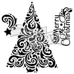 The Crafter's Workshop - 12 x 12 Doodling Templates - Christmas Tree