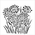 The Crafter's Workshop - 12 x 12 Doodling Templates - Onion Blossoms