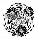 The Crafter's Workshop - 6 x 6 Doodling Templates - Flower Dance