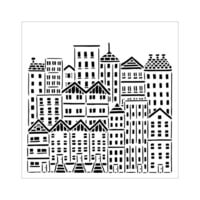 The Crafter's Workshop - 6 x 6 Stencils - City Buildings