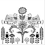 The Crafter's Workshop - 12 x 12 Doodling Templates - Scandinavian Garden