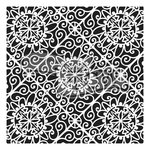 The Crafter's Workshop - 12 x 12 Doodling Templates - Lacy Tiles