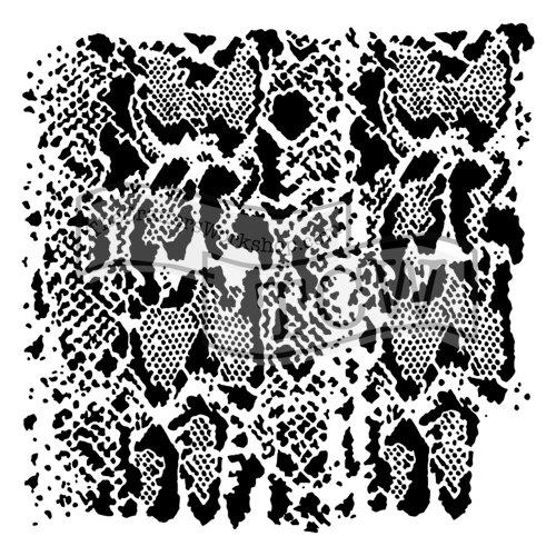 The Crafter's Workshop - 6 x 6 Doodling Templates - Snakeskin