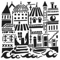 The Crafter's Workshop - 6 x 6 Stencils - Floating City