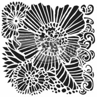 The Crafter's Workshop - 12 x 12 Doodling Templates - Dahlia Blooms
