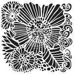 The Crafter's Workshop - 6 x 6 Doodling Templates - Dahlia Blooms