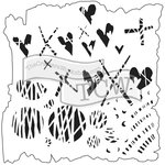 The Crafter's Workshop - 12 x 12 Doodling Templates - Graffiti Kisses