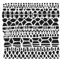 The Crafter's Workshop - 12 x 12 Stencils - Modern Lace
