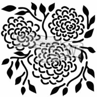 The Crafter's Workshop - 12 x 12 Doodling Templates - Round Flowers