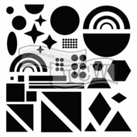 The Crafter's Workshop - 6 x 6 Doodling Templates - Shapes