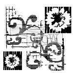 The Crafter's Workshop - 12 x 12 Doodling Templates - Flower Scroll