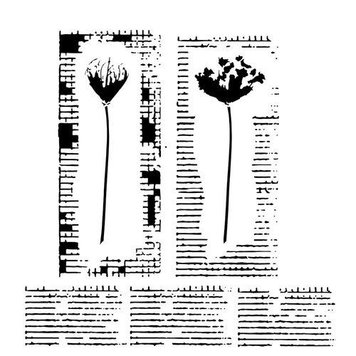 The Crafter's Workshop - 6 x 6 Stencils - Wildflower Duet