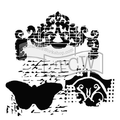 The Crafter's Workshop - 12 x 12 Doodling Templates - Regal Butterfly