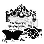 The Crafter's Workshop - 6 x 6 Doodling Templates - Regal Butterfly