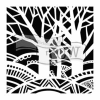 The Crafter's Workshop - 12 x 12 Doodling Templates - Tree Paradise