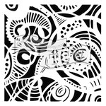 The Crafter's Workshop - 6 x 6 Doodling Templates - Free Swirl