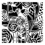 The Crafter's Workshop - 12 x 12 Doodling Templates - Wild Roses