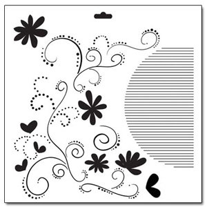 The Crafter's Workshop - 12 x 12 Doodling Templates - Swirls and Flowers