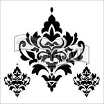 The Crafter's Workshop - 6 x 6 Doodling Templates - Damask Decor