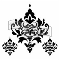 The Crafter's Workshop - 6 x 6 Doodling Templates - Damask Decor