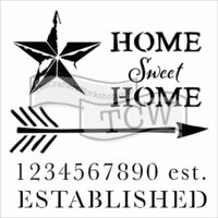 The Crafter's Workshop - 12 x 12 Doodling Templates - Home Sweet