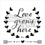 The Crafter's Workshop - 12 x 12 Doodling Templates - Love Grows