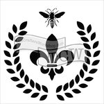The Crafter's Workshop - 6 x 6 Doodling Templates - Laurel Wreath