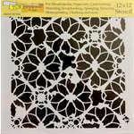 The Crafter's Workshop - 12 x 12 Doodling Templates - Distressed Lace