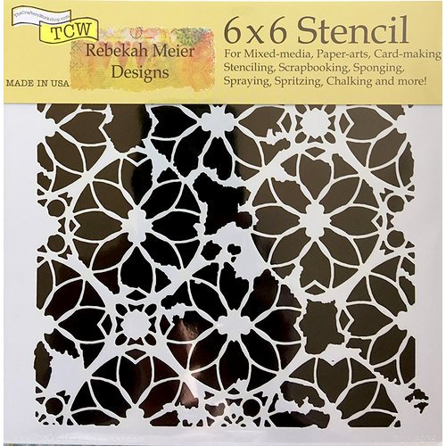 The Crafter's Workshop - 6 x 6 Doodling Templates - Distressed Lace